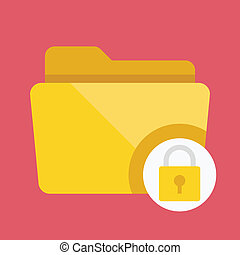 Vector Protected Folder Icon