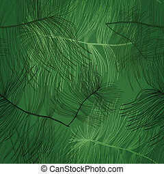 Background with pine - Seamless hand drawn pattern with pine...