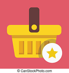 Vector Shopping Basket and Star