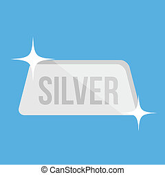 Vector Silver Bar Icon