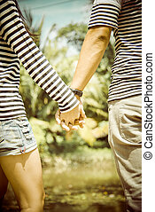 Lovely couple hold the hands2