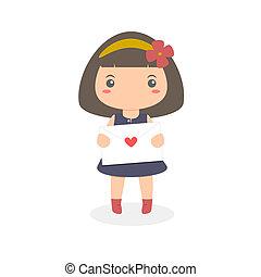 Girl Holding Love Letter