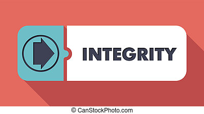 Integrity Concept in Flat Design.