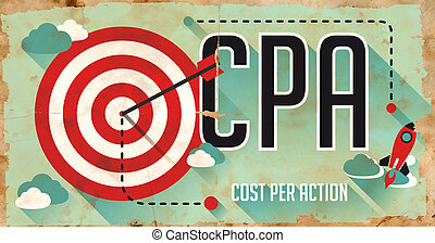CPA Concept Poster in Flat Design - CPA - Cost Per Action -...
