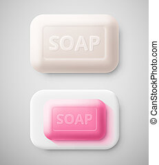 Isolated soap - Isolated hygienic soap, eps 10