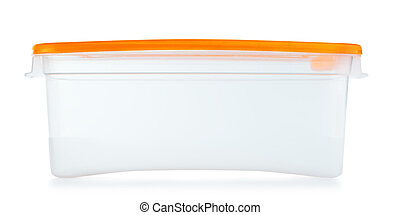 Lunch Box - plastic food container, isolated on white...