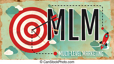 MLM Concept. Poster in Flat Design. - MLM Concept. Poster on...