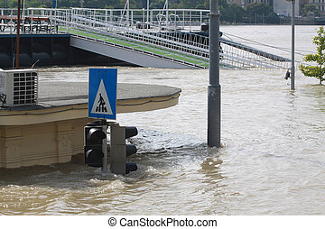 flood in the city, Budapest