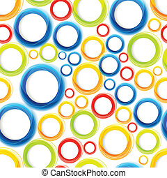 Seamless organic pattern with bright colorful circles Eps10
