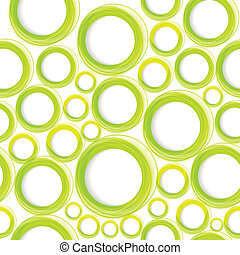 Seamless organic pattern with green circles. Eps10