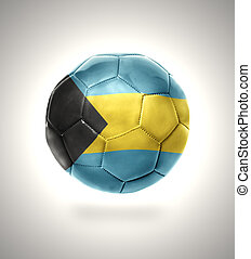 Bahamian Football - Football ball with the national flag of...