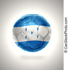 Honduran Football - Football ball with the national flag of...