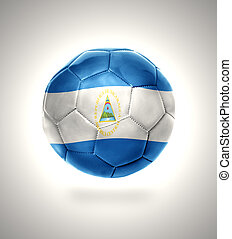 Nicaraguan Football - Football ball with the national flag...