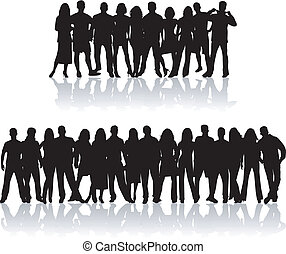 Noisy crowd people , vector work