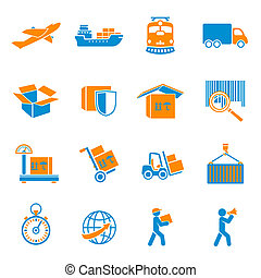 Shipping Delivery Icons Set - Logistic shipping delivery...