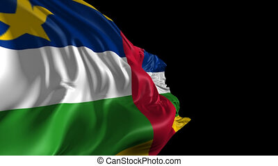 Flag of Central African Republic - Beautiful 3d animation of...