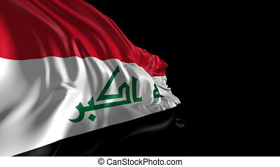 Flag of Iraq - Beautiful 3d animation of Iraq flag with...
