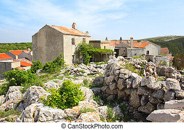 Ancient village of Lubenice on the island of Cres in Croatia