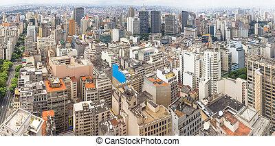 Panoramic view of Sao Paulo, Brazil