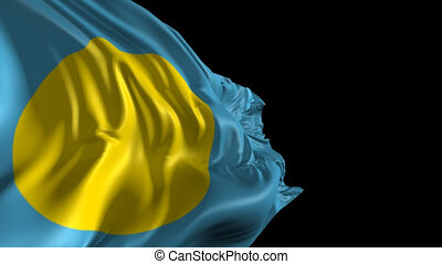 Flag of Palau - Beautiful 3d animation of Palau flag with...