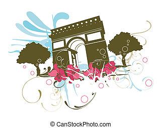 Triumphal Arch - Illustration of the Triumphal Arch of Paris