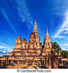 Sukhothai historical park, Thailand - Ancient architecture...