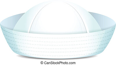 Peaked sailor hat on white background isolated vector...