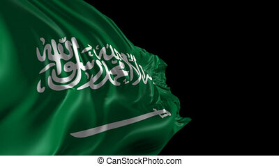 Flag of Saudi Arabia - Beautiful 3d animation of Saudi...