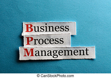 bpm abbreviation - BPM business process management on blue...