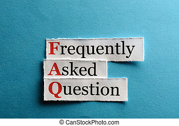FAQ abbreviation - frequently asked question (FAQ) concept...