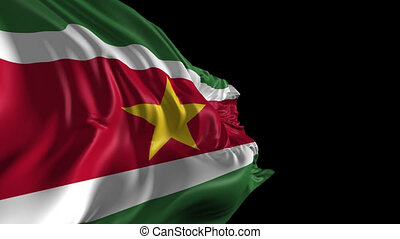 Flag of Suriname - Beautiful 3d animation of Suriname flag...