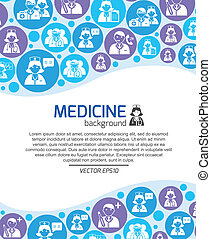 Healthcare and medicine doctors background template vector...
