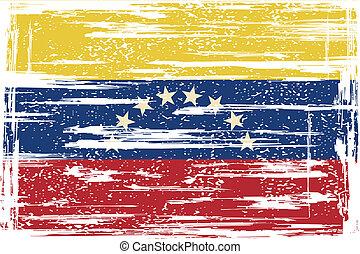 Venezuelan grunge flag. Vector illustration. Grunge effect...