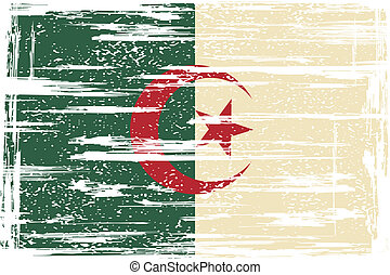 Algerian grunge flag Vector illustration Grunge effect can...