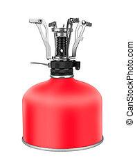Portable Camping Stove with a butane/propane gas canister,...