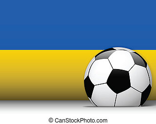 Ukraine Soccer Ball with Flag Background