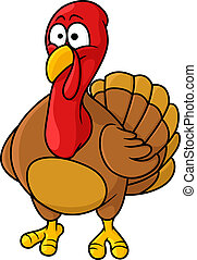 Fun cartoon turkey