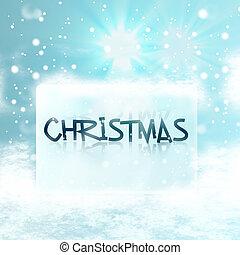 christmas ice baord