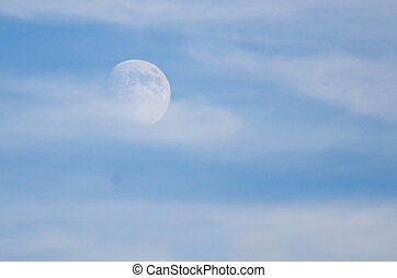 Moon Emerging from the Clouds