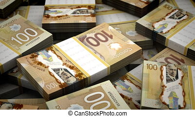 Billion Canadian Dollar Background (seamless)