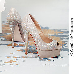 Beautiful shoes - Cute shoes with rhinestones