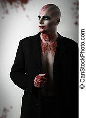 Canibal, maníaco, sangue, rosto