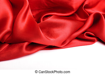 Smooth elegant red silk can use as background