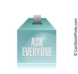 ask everyone ballot illustration design over a white...