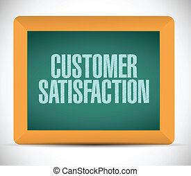 customer satisfaction chalkboard message