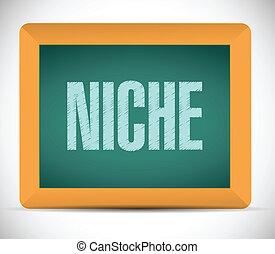 niche chalkboard message illustration design