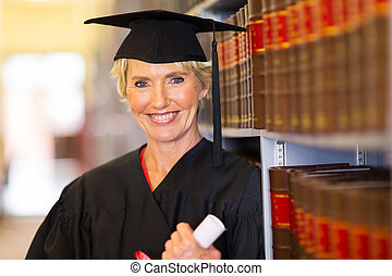 middle aged female law school graduate - elegant middle aged...