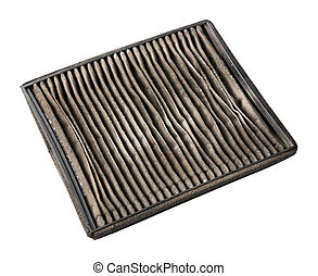 Dirty air filter - Close up dirty car air conditioner filter...