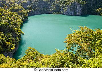 The emerald Inner Sea, Angthong Marine National Park, samui...