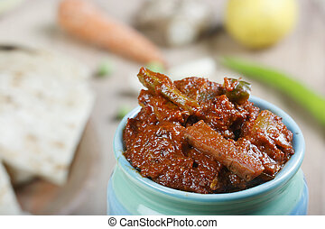 Mixed Vegetable Pickle - As the name suggests mixed...